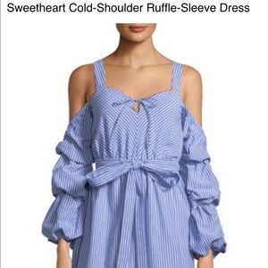Sweetheart cold shoulder dress